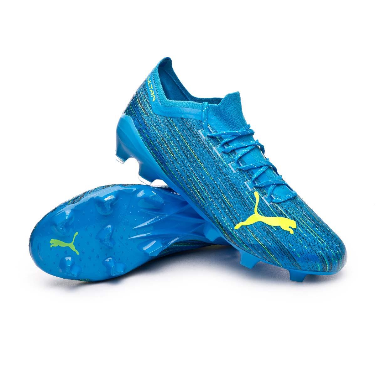 Football Boots Puma Ultra 1.2 FG/AG Nrgy Blue-Yellow Alert ...