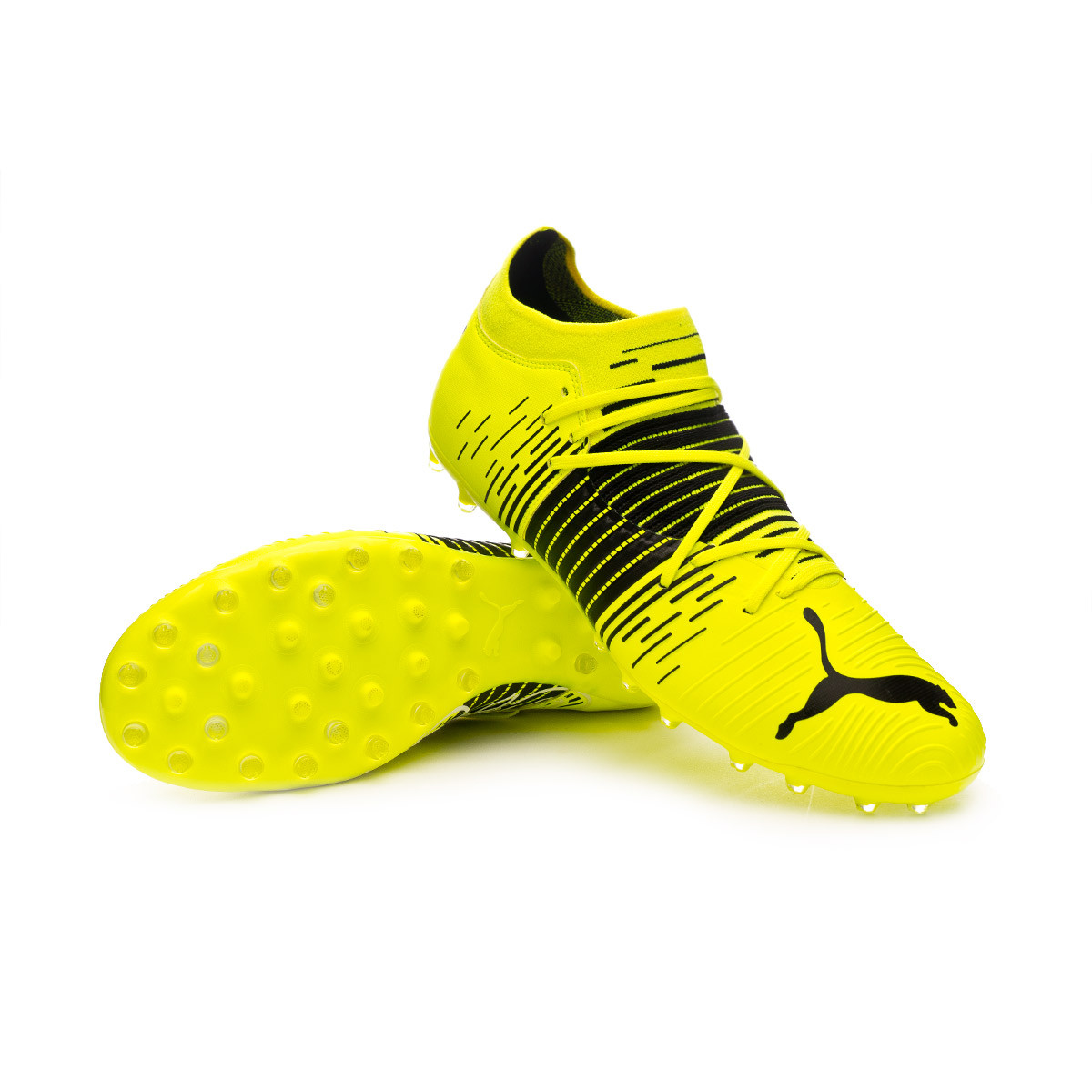 Football Boots Puma Future Z 3.1 MG Yellow alert-Puma black-Puma ...