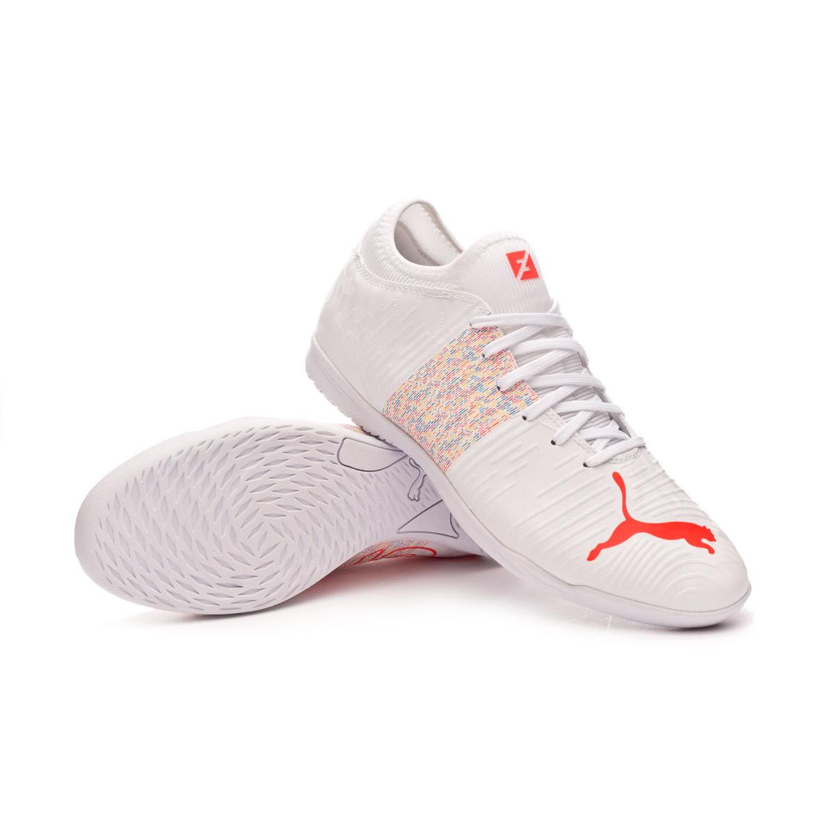 Chaussure de futsal Puma Future Z 4.1 IT Puma White-Red Blast ...
