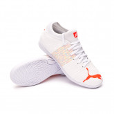Sapatilha de Futsal Future Z 4.1 IT Niño Puma White-Red Blast