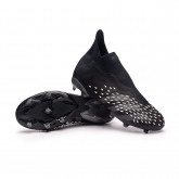 Chaussure de foot Predator Freak + FG Niño Core black-Grey four-White