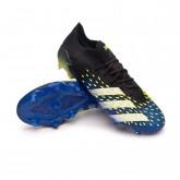 Zapatos de fútbol Predator Freak .1 L FG Black-White-Solar yellow