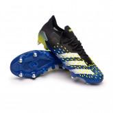 Zapatos de fútbol Predator Freak .1 L SG Black-White-Solar yellow