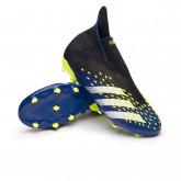 Zapatos de fútbol Predator Freak + FG Niño Black-White-Solar yellow