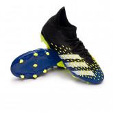 Zapatos de fútbol Predator Freak .1 FG Niño Black-White-Solar yellow