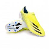 Zapatos de fútbol X Ghosted+ FG Solar yellow-Black-Team royal blue