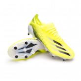Zapatos de fútbol X Ghosted.1 SG Solar yellow-Black-Team royal blue