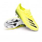 Zapatos de fútbol X Ghosted.1 FG Niño Solar yellow-Black-Team royal blue