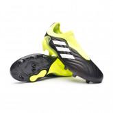 Zapatos de fútbol Copa Sense.3 LL FG Niño Black-White-Solar yellow
