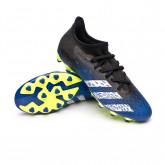 Zapatos de fútbol Predator Freak .3 L MG Black-White-Royal blue