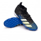 Chuteira Predator Freak .3 Turf Black-White-Solar yellow