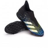 Zapatos de fútbol Predator Freak .3 LL Turf Niño Black-White-Solar yellow