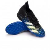 Zapatos de fútbol Predator Freak .3 Turf Niño Black-White-Solar yellow