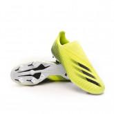 Zapatos de fútbol X Ghosted.3 LL FG Solar yellow-Black-Royal blue