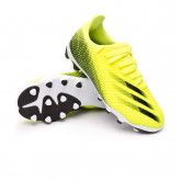 Zapatos de fútbol X Ghosted.3 MG Niño Solar yellow-Black-Royal blue
