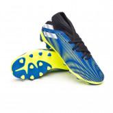 Zapatos de fútbol Nemeziz .3 MG Niño Royal blue-White-Solar yellow