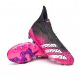 Bota Predator Freak + AG Black-White-Shock pink