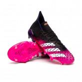 Bota Predator Freak .1 FG Black-White-Shock pink