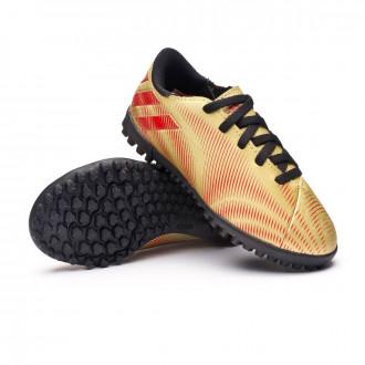 Nemeziz Messi .4 Turf Niño Gold metallic-Scarlet-Black