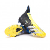 Chuteira Predator Freak + FG Bright yellow-Silver metallic-Core black