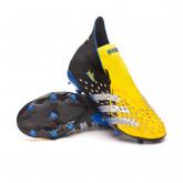 Bota Predator Freak + FG Niño Bright yellow-Silver metallic-Core black