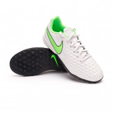 Football Boots Tiempo Legend 8 Academy Turf Niño Platinum tint-Rage green-Black