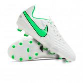 Football Boots Kids Tiempo Legend 8 Club FG/MG Platinun tint-Rage green-Black