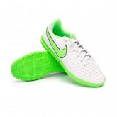 Futsal Boot Kids Tiempo Legend 8 Club IC Platinum tint-Rage green-Black