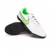 Football Boots Tiempo Legend 8 Club Turf Niño Platinum tint-Rage green-Black