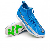 Futsal Boot Phantom GT Academy DF IC Niño Photo blue-Metallic silver-Rage green-Black