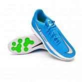Futsal Boot Kids Phantom GT Academy IC Photo blue-Metallic silver-Rage green-Black