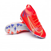 Football Boots Kids Mercurial Superfly 8 Academy AG Bright crimson-Metallic silver-Indigo burst
