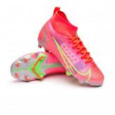 Football Boots Kids Mercurial Superfly 8 Pro FG Bright crimson-Metallic silver-Indigo burst