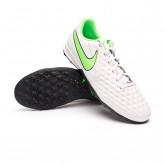 Football Boots Tiempo Legend 8 Academy Turf Platinum tint-Rage green-Black
