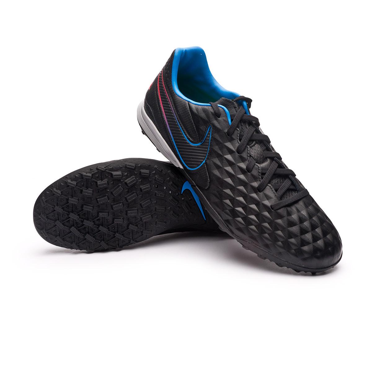 Chaussure de foot Nike Tiempo Legend 8 Pro Turf Black-Black-Siren ...