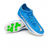 Futsal Boot Phantom GT Academy DF IC Photo blue-Metallic silver-Rage green-Black