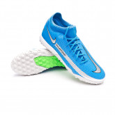Football Boots Phantom GT Academy DF Turf Photo blue-Metallic silver-Rage green-Black