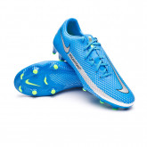 Football Boots Phantom GT Academy FG/MG Photo blue-Metallic silver-Rage green-Black