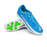 Futsal Boot Phantom GT Academy IC Photo blue-Metallic silver-Rage green-Black