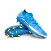 Football Boots Phantom GT Elite DF FG Photo blue-Metallic silver-Rage green-Black