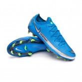Football Boots Phantom GT Elite FG Photo blue-Metallic silver-Rage green-Black