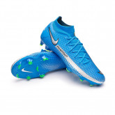 Football Boots Phantom GT Pro DF FG Photo blue-Metallic silver-Rage green-Black
