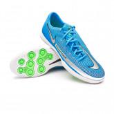 Futsal Boot React Phantom GT Pro IC Photo blue-Metallic silver-Rage green-Black