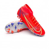 Chaussure de foot Mercurial Superfly 8 Academy AG Bright crimson-Metallic silver-Indigo burst
