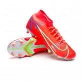 Football Boots Mercurial Superfly 8 Academy FG/MG Bright crimson-Metallic silver-Indigo burst