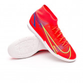 Futsal Boot Mercurial Superfly 8 Academy IC Bright crimson-Metallic silver-Indigo burst