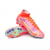 Football Boots Mercurial Superfly 8 Elite AG Bright crimson-Metallic silver-Indigo burst-W