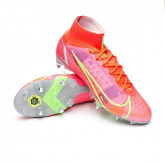 Mercurial Superfly 8 Elite SG-PRO Anti-Clog Bright crimson-Metallic silver-Indigo burst