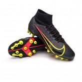 Chaussure de foot Mercurial Superfly 8 Pro AG Black-Cyber-Off noir-Siren red