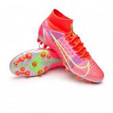 Football Boots Mercurial Superfly 8 Pro AG Bright crimson-Metallic silver-Indigo burst-W